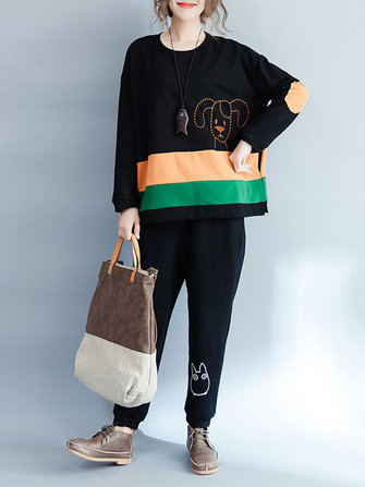 Plus Size Casual Women Dog Sweatshirts