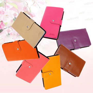 Unisex Fashion Genuine Leather 96 Card Slots Large Capacity Card Holder