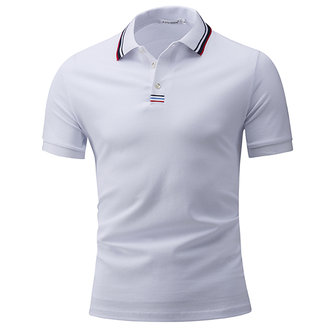 Classic Thread Color Short-sleeved Golf Shirt