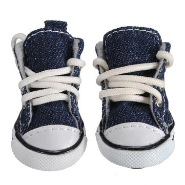 Pet Denim Canvas Breathable Slip Resistant Wear-Resistant Shoes