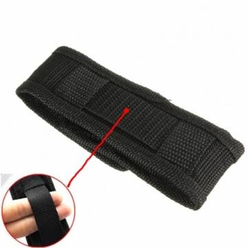 Nylon Durable Flashlight Torch Holster Pouch Bag Black