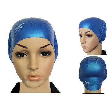 Anti Skid Particles Silica Gel Waterproof Swimming Cap For Adult