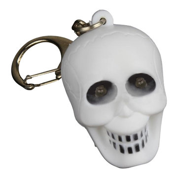 Luminous Sound Cartoon Skull Plastic Animal Toy LED Key Chain