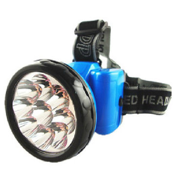 Portable 9LED Rechargeable Outdooors Flood Light High Light Headlamp