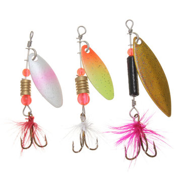 ZANLURE 30x Metaal Assorted Laser Fishing Lure Spinner Baits Veer Haak Set