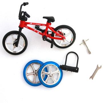 Dedo bicicleta de aleación de mini juguete multicolor deportes regalo niños
