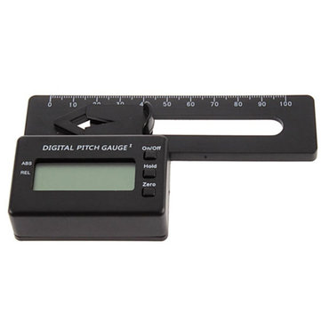 Digital Pitch Gauge For 450 RC Helicopter Quadcopter Airplane