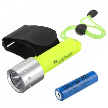 CREE T6 1600LM 3 Modes Waterproof LED Flashlightt + 18650