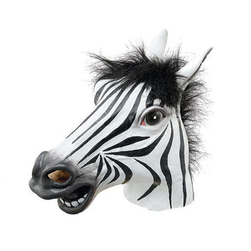 Adult Zebra Head latex Mask Fits Halloween Toys Party Fancy Dress