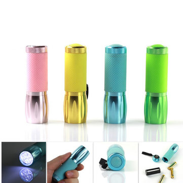 Multicolor Mini Portable LED Flashlight 3xAAA