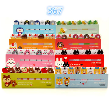 Animals girls Sticker Bookmark Marker Memo Index Tab