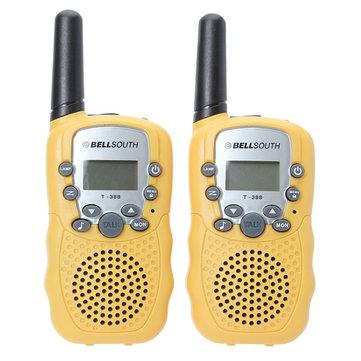 T-388 0.5W UHF Auto Multi-Channels Mini Radios Walkie Talkie Yellow