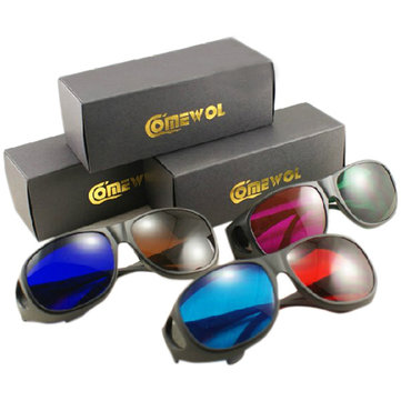 3D Glasses Set 3 Pairs Red Green Red Blue Brown Blue Lens