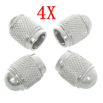 4x Shiny Color Motorcycle Car Aluminum Tire Air Valve Caps