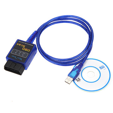 Mini ELM327 USB Interface OBDII 2 Auto Scanner Tool Diagnostic Code
