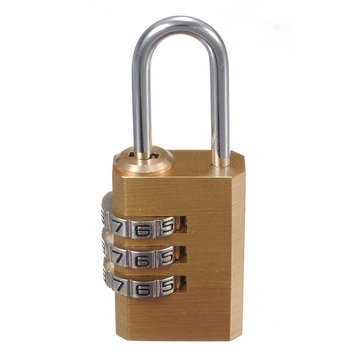 Brass 3 Dial Suitcase Luggage Safe Password Lock