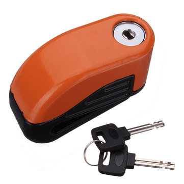 10mm Motorcycle Sturdy Wheel Disc Brake Lock anti thief Alarm Set
