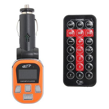 Car MP3 Player FM Transmitter LCD Display with Remote Control