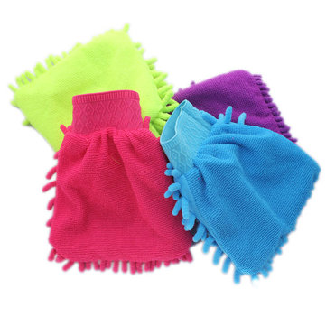 Microfiber Chenille Car Home Office Cleaning Wash Glove Dust Brush