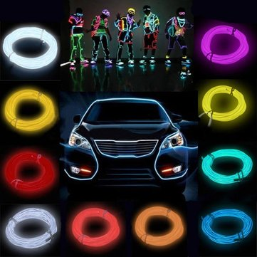 2M Flash Flexible Neon Light Glow El Strip Tube Wire Rope