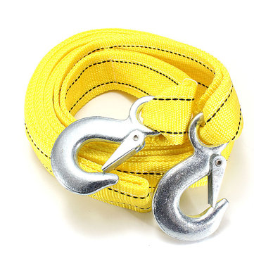 5T 3.64M Tow Towing Pull Rope 2 Heavy Duty Forged Steel Hooks