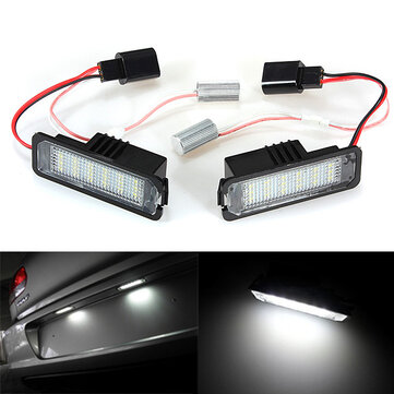 18 SMD LED License Number Plate Light for VW Golf Mk4 MK5 Passat Polo