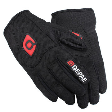 Motorcycle Motor Bike Sports Full Finger Comfy Gloves Black Breathable