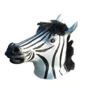 Dance Performance Props Halloween Simulation Zebra Horse Head Mask