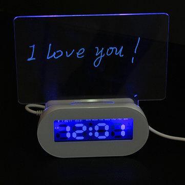 LED Bacheca luminosa sveglia 4 USB HUB fluorescente