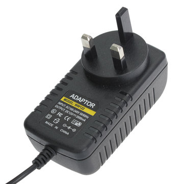 WW122 UK EU 12V 2A CCTV Security Camera Monitor Power Supply Adapter