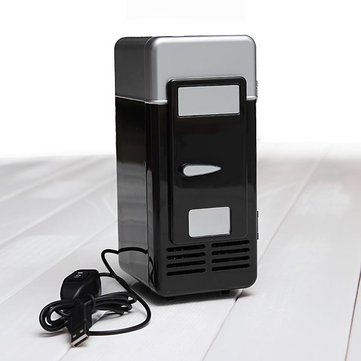 Mini USB LED PC Fridge Refrigerator Drink Cans Food Cooler Warmer ES9P