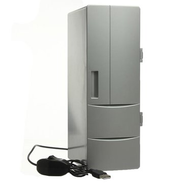 Mini USB Fridge Freezer Refrigerator Beverage Drink Cans Warmer Cooler