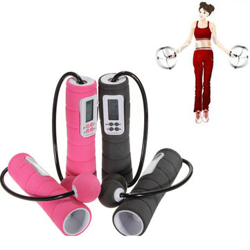 Digital Cordless Skipping Rope Wireless Calorie Burner Jump Counter