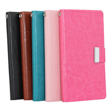 Synthetic Leather Card Wallet Case For Lenovo P770 Smartphone