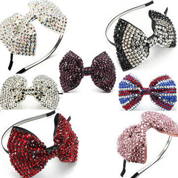 Crystal Drill Diamante Bow Headbrand Rhinestone Hair Accessories