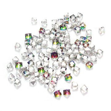 100PCS Cube Crystal Nail Art Stickers Rhinestone Phone Decals