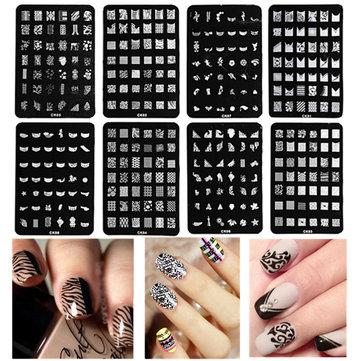 Nail Art Image Stamp Plates Polish Stamping Template DIY Tips Design