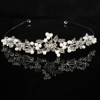 Metal Crystle Flower Wedding Bridal Tiara Alloy Prom Party Head Band