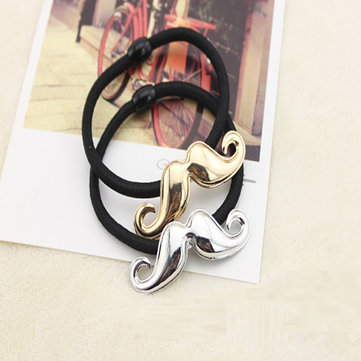 Metal Texture Mustache Hair Band Fashion Hair Rope Hair Accessories