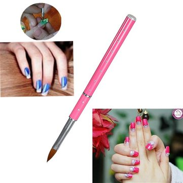 Pink NO.8 Crystal Carving Nail Art Pen Brush Powder Design Tool
