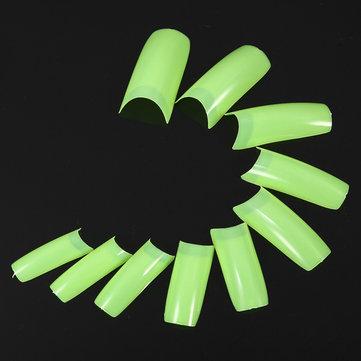 500pcs estilo francês dicas acrílico arte gel pureza uv falso prego