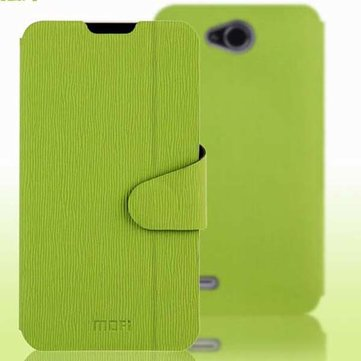 Mofi Toothpick Grain Leather Protective Stand Case For ZTE V967S V987