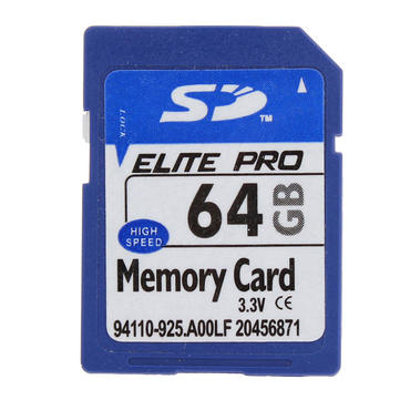 ELITE PRO SD Card Memory Card 64GB For MP4 Camera PC GPS ETC