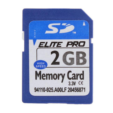 ELITE PRO SD Card Memory Card 2GB For MP4 Camera PC GPS ETC