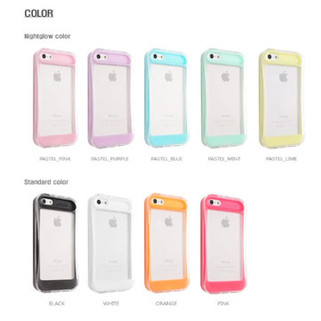 Korean Silicon Noctilucent Back Case For iPhone 5 5G Random Shipments