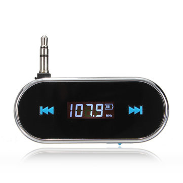 Wireless 3.5mm Hands Free Lcd Display Fm Transimittervs For iPhone iPod
