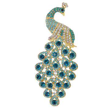 DIY Little Peacock Rhinestone Accessories For Mobilephones