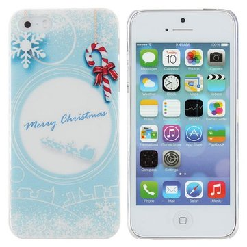 Christmas Relief Snow Pattern PC Hard Case Cover For iPhone 5 5S