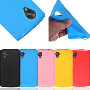 TPU doux gel de silicone de gelée dos de couverture pour LG Google Nexus 5