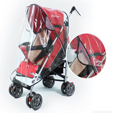 Baby Rain Wind Snow Sleet Cover for Single Jogger Stroller